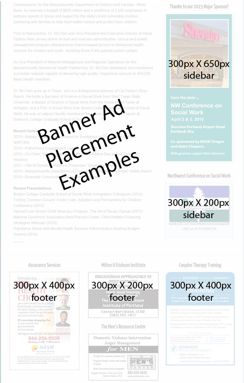 Banner Ad Size & Placement Examples